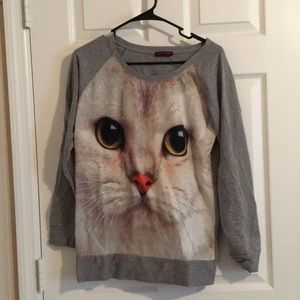 Tops - 💜 Cat Sweater Top